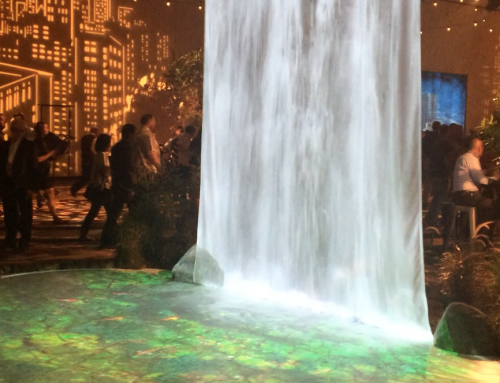 Digital waterfall for your next event.